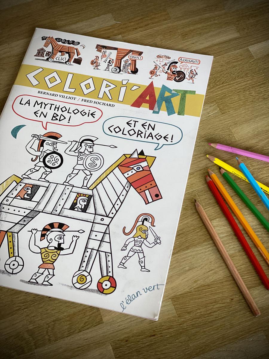Colori'Art, la mythologie en BD et en coloriage