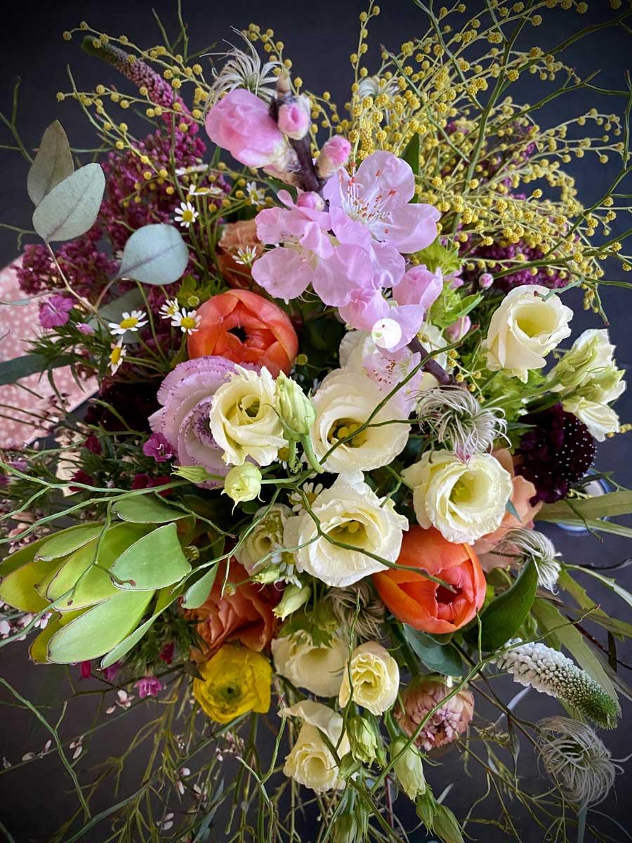 Bouquet de fleurs vu de haut